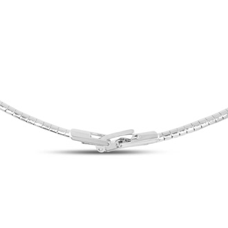 1 4 Carat Diamond Designer Necklace In Platinum Overlay 18 Inches