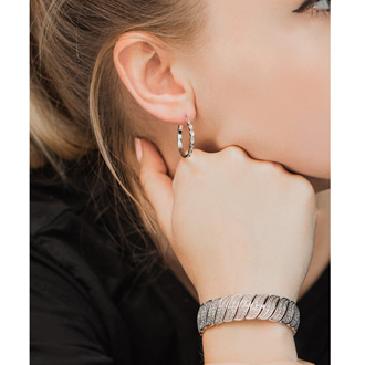 1 Carat Diamond Wave Bracelet, 7 Inches