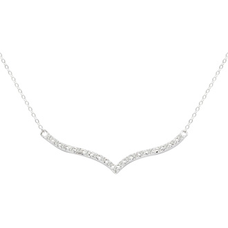 19 Natural Diamond Curved V Diamond Necklace, 17 Inches. Such a Beautiful Style!!!