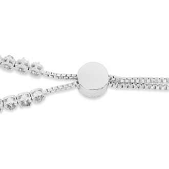 1/2 Carat Diamond Adjustable Bolo Slide Tennis Bracelet