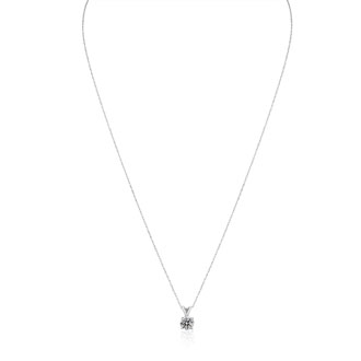 .55 Carat Colorless Diamond Solitaire Pendant in 14K White Gold with Free Chain. Limited Quantity of This Special Size.  Over 1/2 Carat!