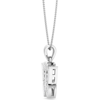 CLOSEOUT BLOWOUT Diamond Butterfly Pendant in 10k White Gold