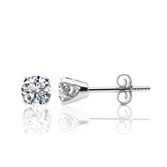 Very Rare! 1.10 Carat Colorless Diamond Stud Earrings, E-F Color, 14K White Gold. Fantastic Offer!