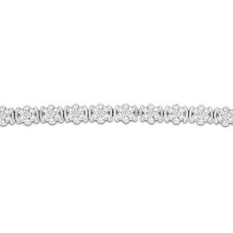 THE OTHER BRACELET SOLD OUT!  THIS IS OUR BEST SELLER!  COUPON BDSV172. 1/2 Carat Diamond Flower Bracelet, 7 Inches. Interesting Natural Rose Cut Diamonds In A Very Pretty Setting!