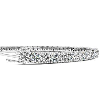 4 Carat Diamond Tennis Bracelet In 14 Karat White Gold, 7 Inches