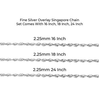 Fine Silver Overlay Singapore Necklace 