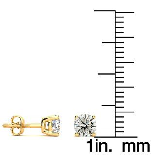 3/4ct Most Popular Diamond Stud Earrings In 14k Yellow Gold