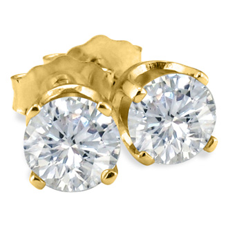 1/10ct Diamond Stud Earrings in 14k Yellow Gold
