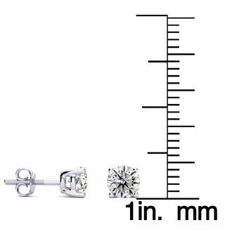 Special Purchase! .65ct Diamond Stud Earrings in 14k White Gold. Super Value