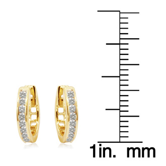 1/4ct Diamond Earrings in 10k Yellow Gold at Closeout Price