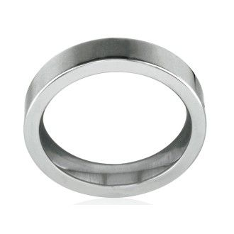 Classic 4mm Flat Comfort Fit Tungsten Wedding Band