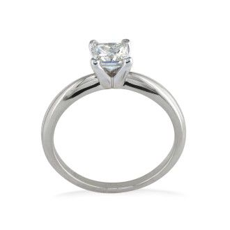 1/4ct Princess Diamond Solitaire Engagement Ring in 14k White Gold