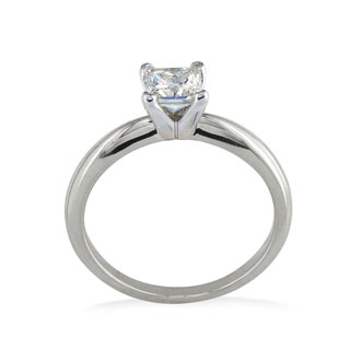 1/3ct Princess Diamond Solitaire Engagement Ring in 14k White Gold
