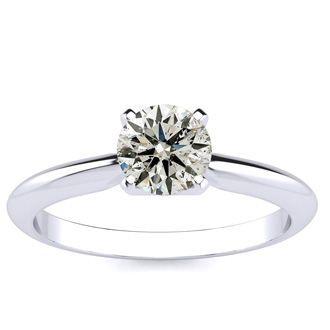2/3 Carat Diamond Engagement Ring in 14K White Gold