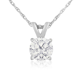 2/3ct 14k White Gold Diamond Pendant