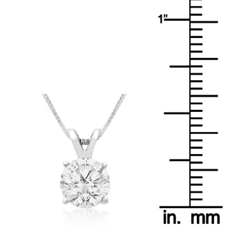 1ct Diamond Pendant in 14k White Gold