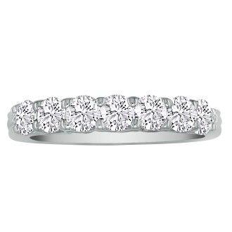 Very Fine 1ct, 7 Diamond V-Base Wedding Band in 14K. CLOSEOUT!