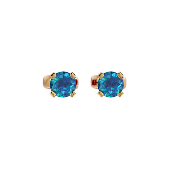 1/3ct Blue Diamond Stud Earrings in 14k Yellow Gold