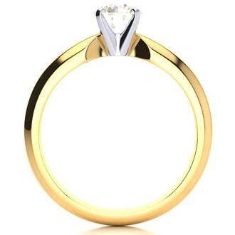 1/2ct Round Diamond Engagement Ring in 14k Yellow Gold