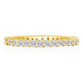 18 Karat Yellow Gold 1/2 Carat Diamond Eternity Band, G-H SI3, Ring Sizes 4 to 9 1/2