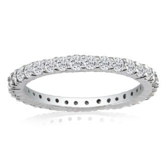 Platinum 1ct Diamond Eternity Band, GH SI3, Ring Sizes 4 to 9 1/2