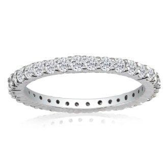 18 Karat White Gold 5 Carat Diamond Eternity Band, G-H SI3, Ring Sizes 4 to 9 1/2