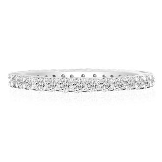 Platinum 5 Carat Diamond Eternity Band, G-H SI3, Ring Sizes 4 to 9 1/2