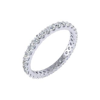 14k 1ct U-Based Diamond Eternity Band, GH SI, Ring Sizes 4 to 9 1/2