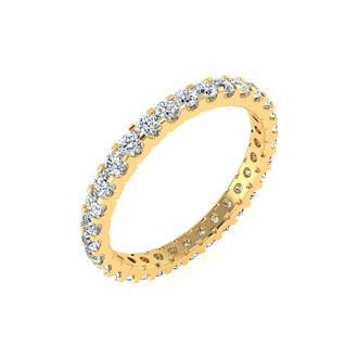 18k 1ct U-Based Diamond Eternity Band, H-I | SI1-SI2, Ring Sizes 4 to 9 1/2