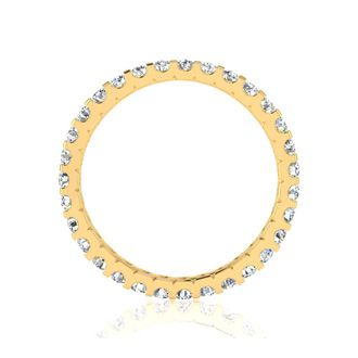 18k 1ct U-Based Diamond Eternity Band, H-I | SI2-I1, Ring Sizes 4 to 9 1/2