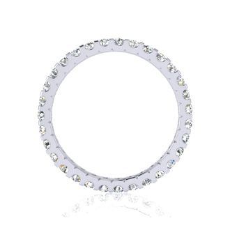 Platinum 1 Carat Diamond Eternity Band, G-H SI3, Ring Sizes 4 to 9 1/2