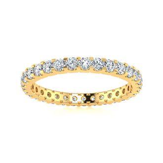 14k 1ct U-Based Diamond Eternity Band, Ring Sizes 4 to 9 1/2