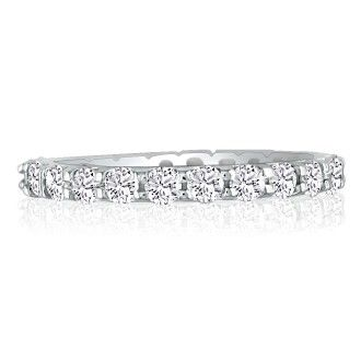 14k 1 1/2ct U-Based Diamond Eternity Band, Ring Sizes 4 to 9 1/2