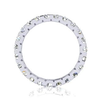 Platinum 2 Carat Diamond Eternity Band, G-H SI1-SI2, Ring Sizes 4 to 9 1/2