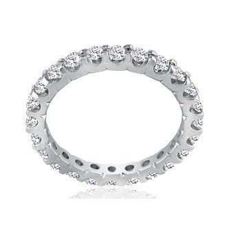 14 Karat White Gold 2 Carat Diamond Eternity Band, G-H SI3, Ring Sizes 4 to 9 1/2