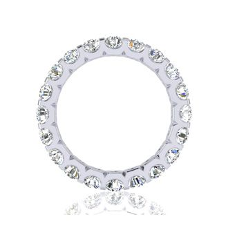 Platinum 3ct U-Based Diamond Eternity Band, GH SI3, 4-9.5