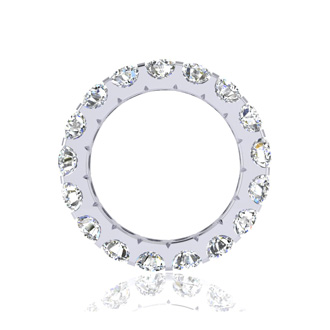 14 Karat White Gold 4 Carat Diamond Eternity Band, G-H SI3, Ring Sizes 4 to 9 1/2