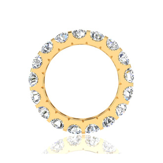 14k 4ct U-Based Diamond Eternity Band, GH SI3, Ring Sizes 4 to 9 1/2