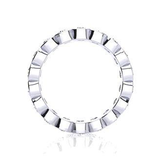 Platinum 2ct Overlapping Bezel Diamond Eternity Band, H-I | SI2-I1, 3-9.5