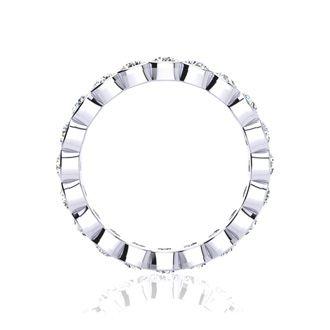 Platinum 3ct Overlapping Bezel Set Diamond Eternity Band,H-I | SI2-I1, 3-9.5