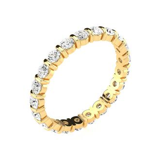 14 Karat Yellow Gold 1 Carat Bar Set Diamond Eternity Band, G-H SI1-SI2, Ring Sizes 4 to 9 1/2