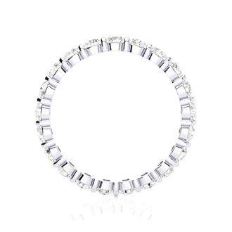 18 Karat White Gold 1 Carat Bar Set Diamond Eternity Band, G-H SI1-SI2, Ring Sizes 4 to 9 1/2