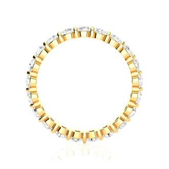 14 Karat Yellow Gold 1 Carat Bar Set Diamond Eternity Band, G-H SI3, Ring Sizes 4 to 9 1/2