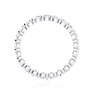 1ct Rounded Bar Set Diamond Eternity Band in 18k WG, H-I | SI2-I1, 4-9.5