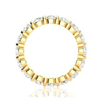 18 Karat Yellow Gold 2 Carat Bar Set Diamond Eternity Band, G-H SI3, Ring Sizes 4 to 9 1/2