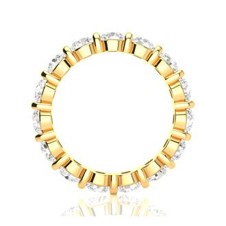 3ct Rounded Bar Set Diamond Eternity Band in 14k YG, H-I | SI1-SI2, 4-9.5