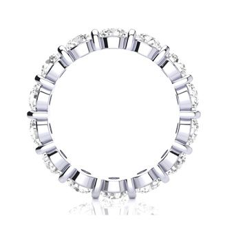 14 Karat White Gold 4 Carat Bar Set Diamond Eternity Band, I-J I1-I2, Ring Sizes 4 to 9 1/2