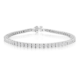 4ct 4-Prong Diamond Tennis Bracelet in 14k White Gold