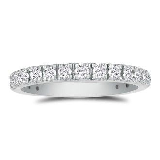 2/3ct Diamond Almost Eternity Band in 14k White Gold