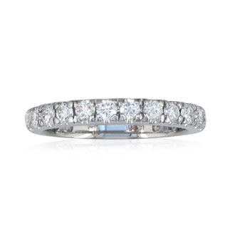 1ct Diamond Almost Eternity Band in 14k White Gold